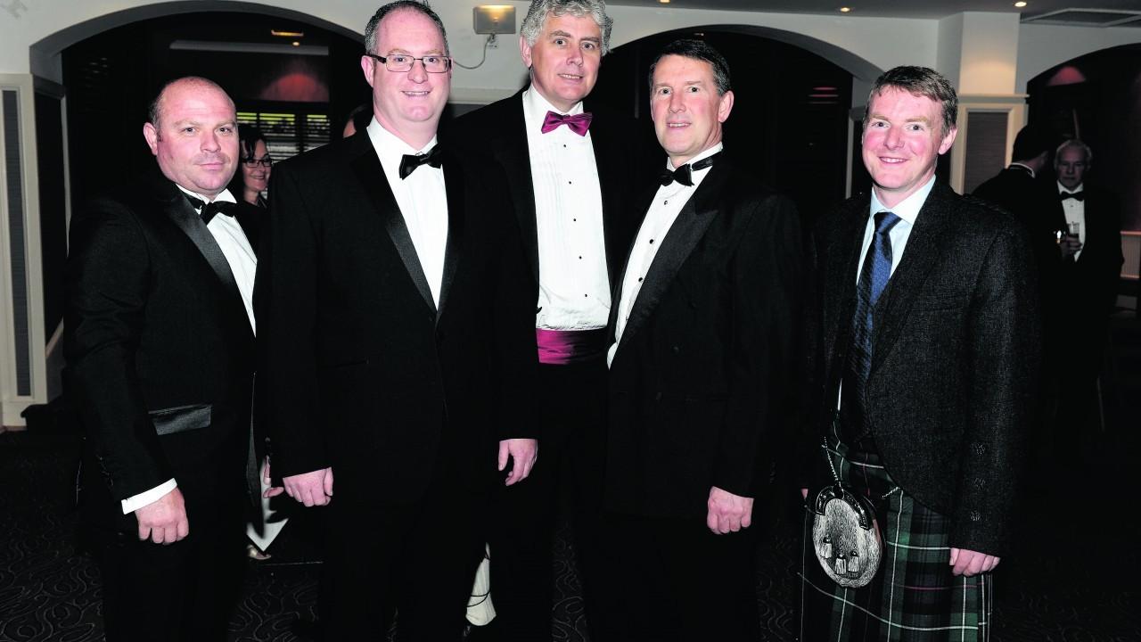 Craig Nelson, Stephen Booth, Bruce Murdock, Alan Freeland and Stewart Duthie.