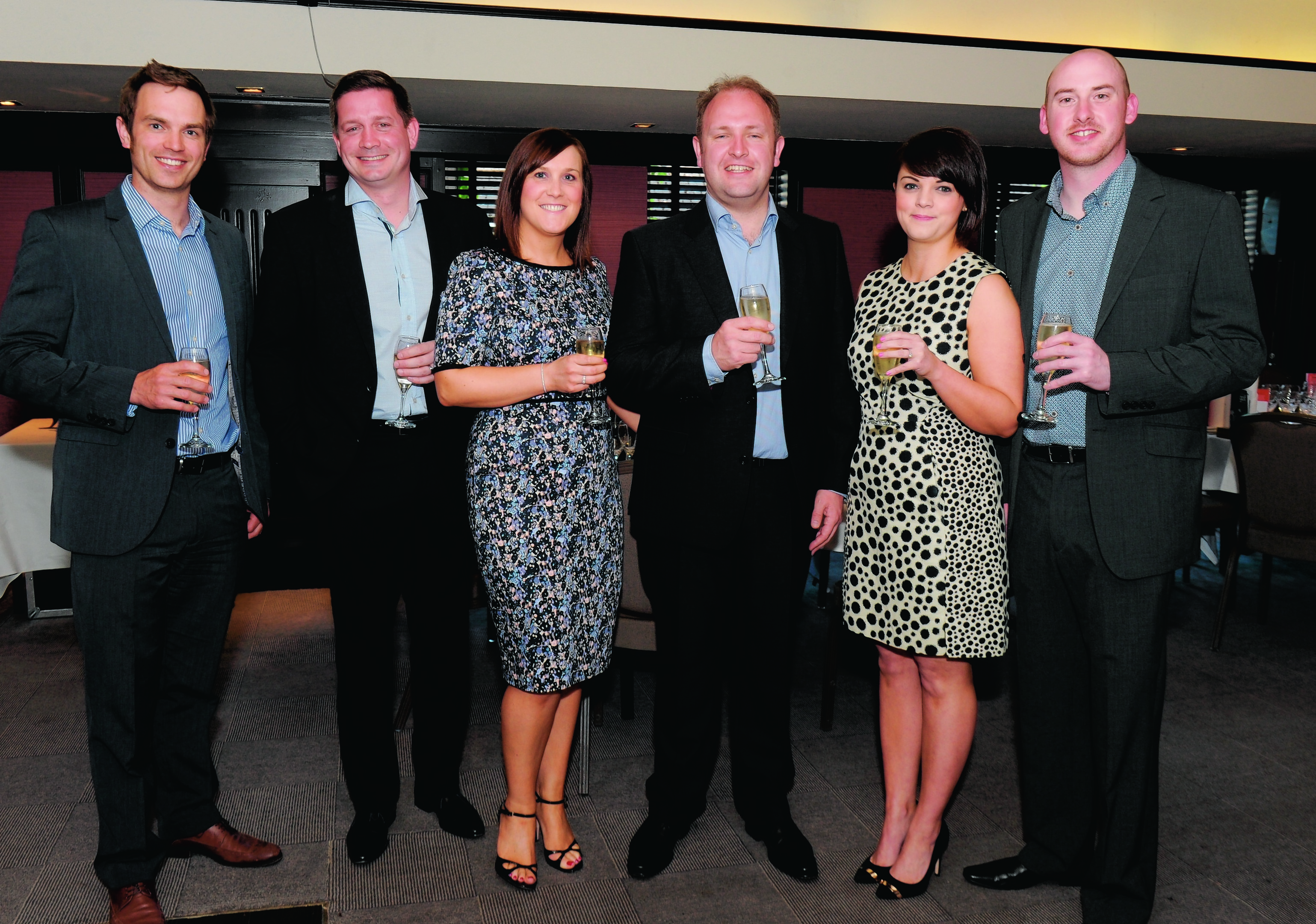 Tim Baillie, Mark Dundee, Kate and Andrew Strachan  of Norse, top tournament sponsor, Claire Stewart and Kevin Johnstone