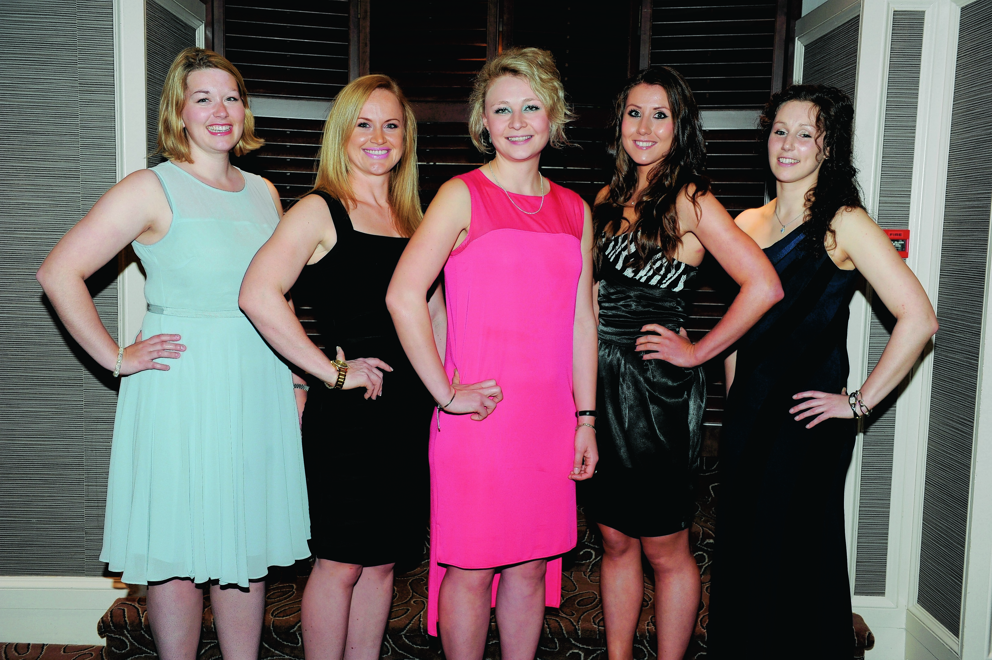 Anna Crosby, Lucy Buglass, Catherine Gill, Debbie Moore and Louise Watson.