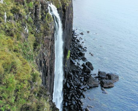 Kilt Rock, near Staffin, where coastguard teams have previously been sent to rescue stranded dogs