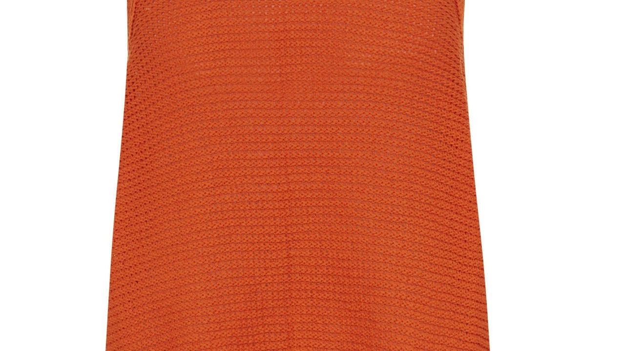 Orange Tape Knit Vest, £14.99, from New Look