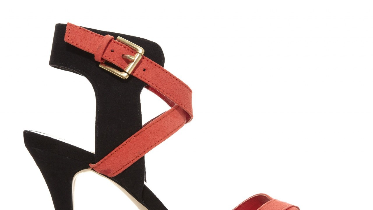 Orange and black sandals, £19.99, from New Look