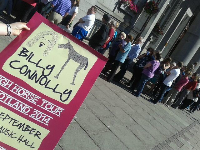 Fans queue to buy tickets to see Billy Connolly at the Music Hall in Aberdeen
