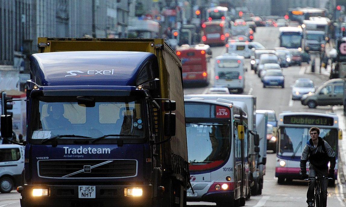 Aberdeen traffic on Union Street