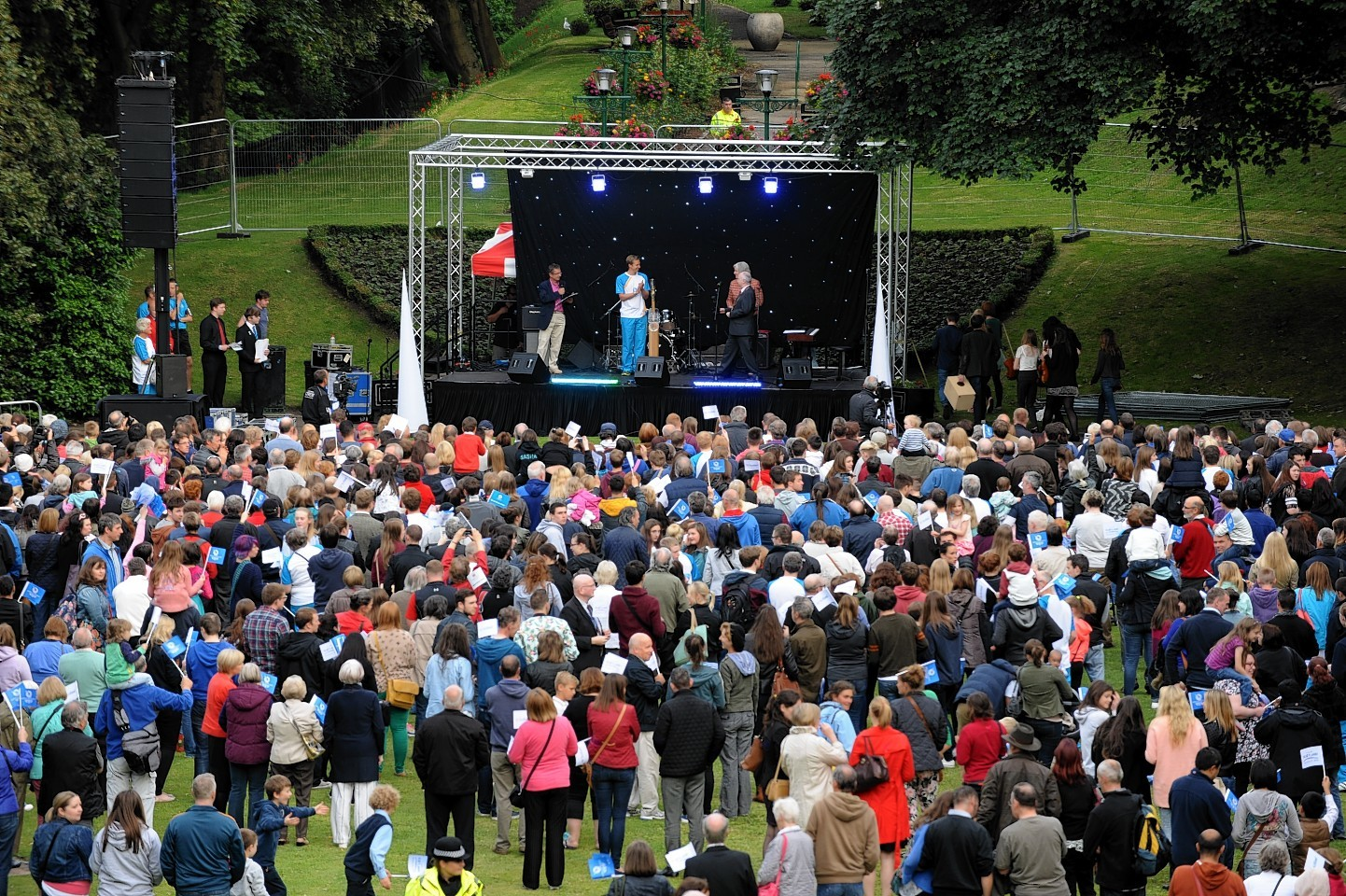 Aberdeen finished the Queen's Baton Relay with a concert in Union Terrace Gardens