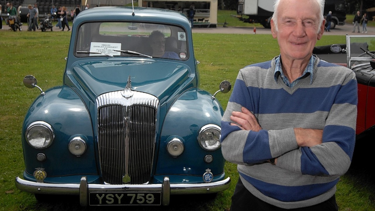 Bill Main with his 1952 Daimler Conquest
