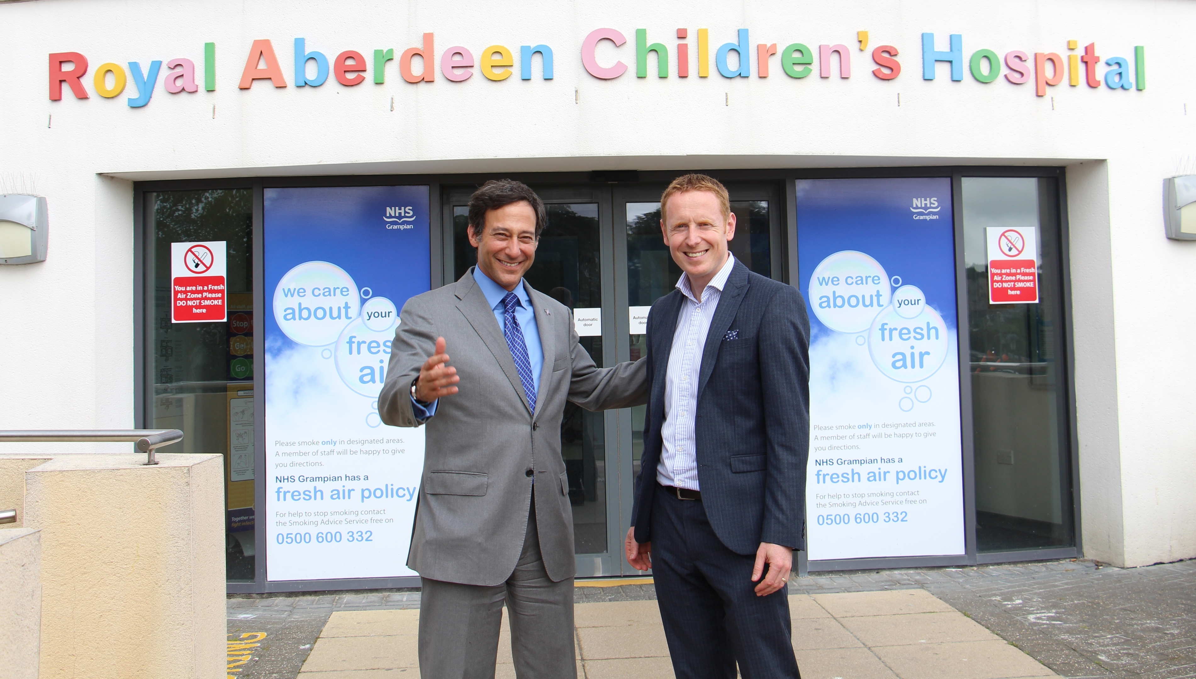 Bristow Group's President, Jonathan Baliff and David Cunningham, Chief Executive of The ARCHIE Foundation