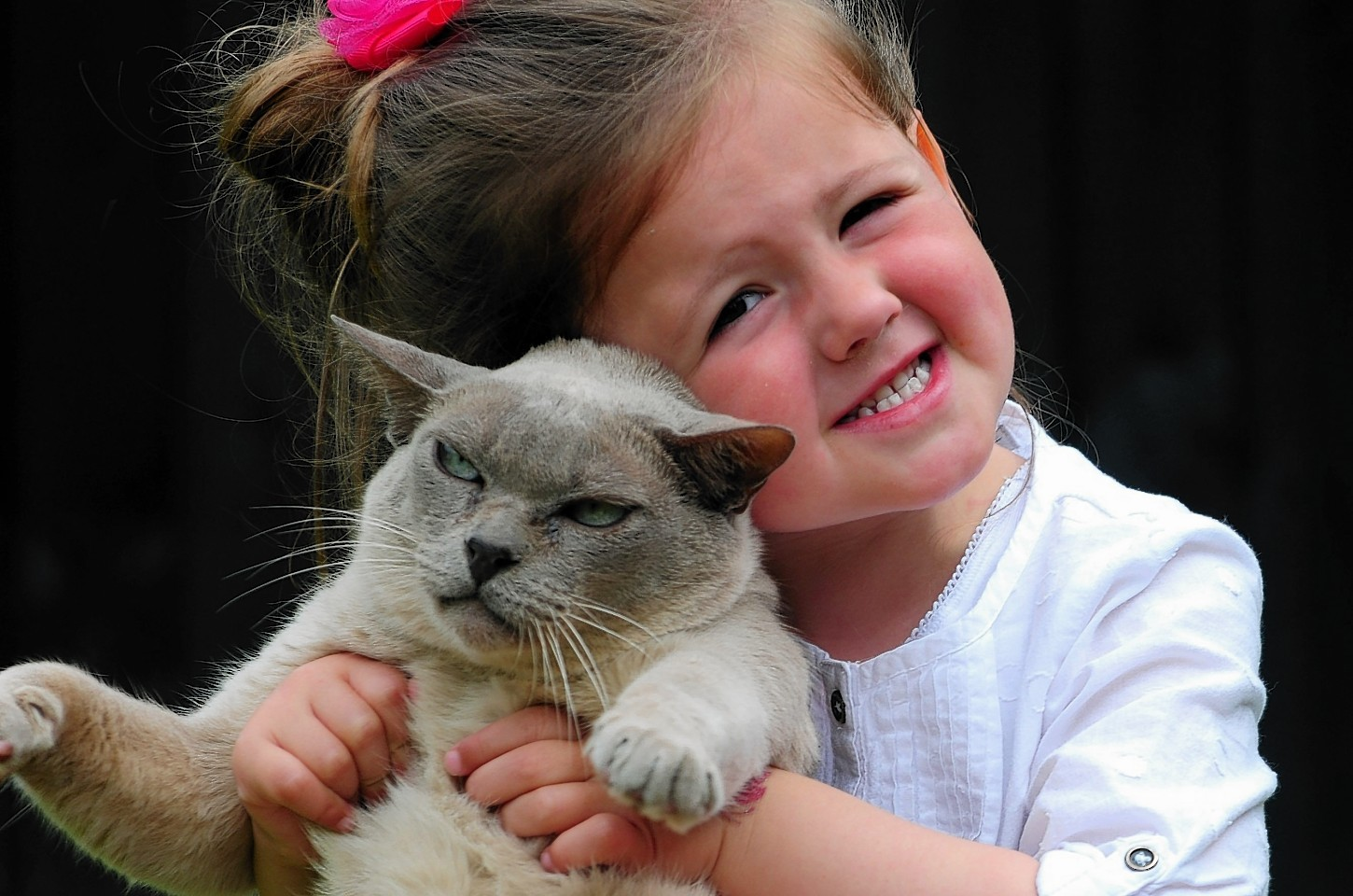 Kenzie McNeil and her pet cat Baby Boy