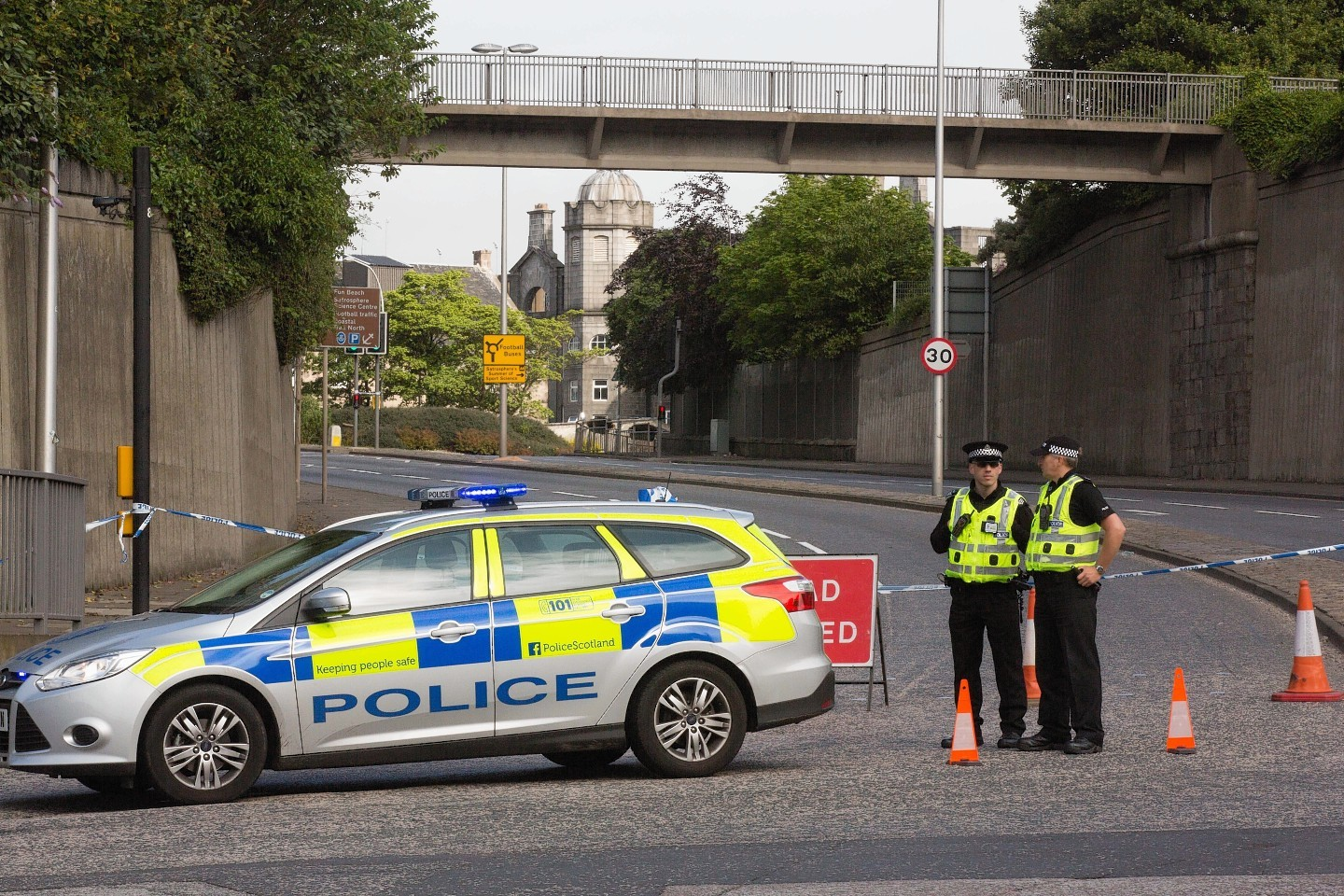 Police close off Commerce Street in Aberdeen