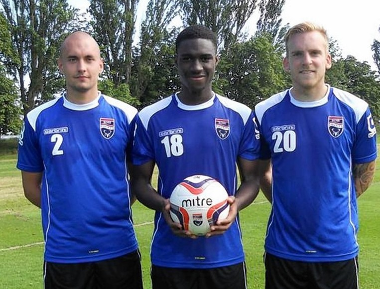 Ross County new signings, from left to right: Tim Dreesen, Ben Frempah and Jordi Balk