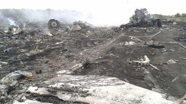 Photo posted to Twitter claiming to be from the crash site