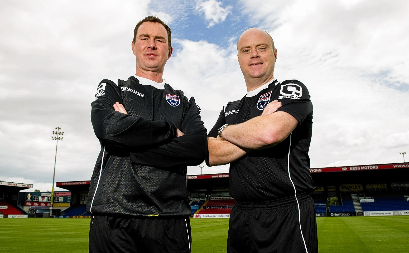Derek Adams and assistant Steven Ferguson