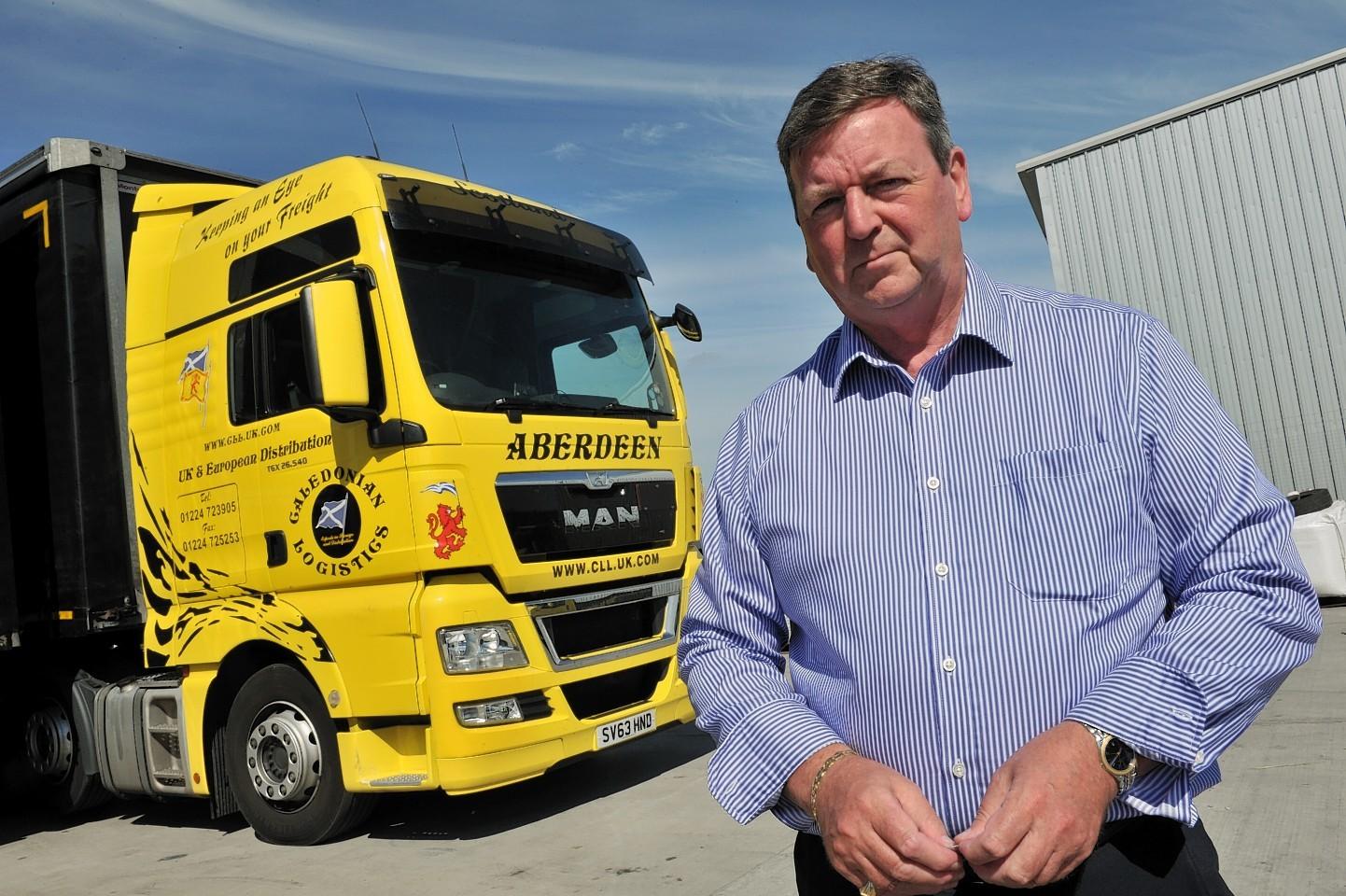 Derek Mitchell, managing director of Caledonian Logistics