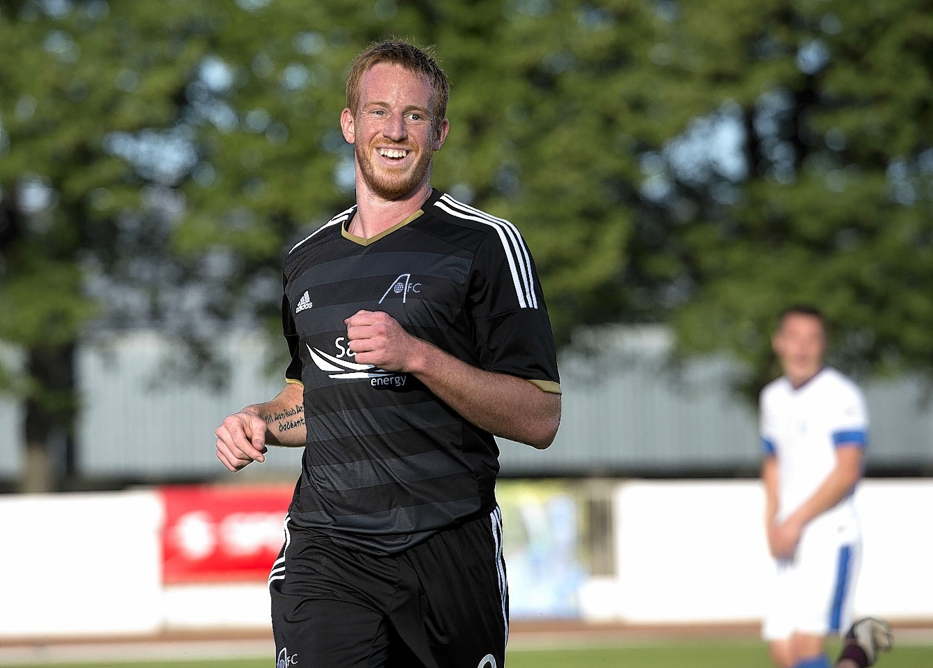 Rooney hit a hat-trick in Riga