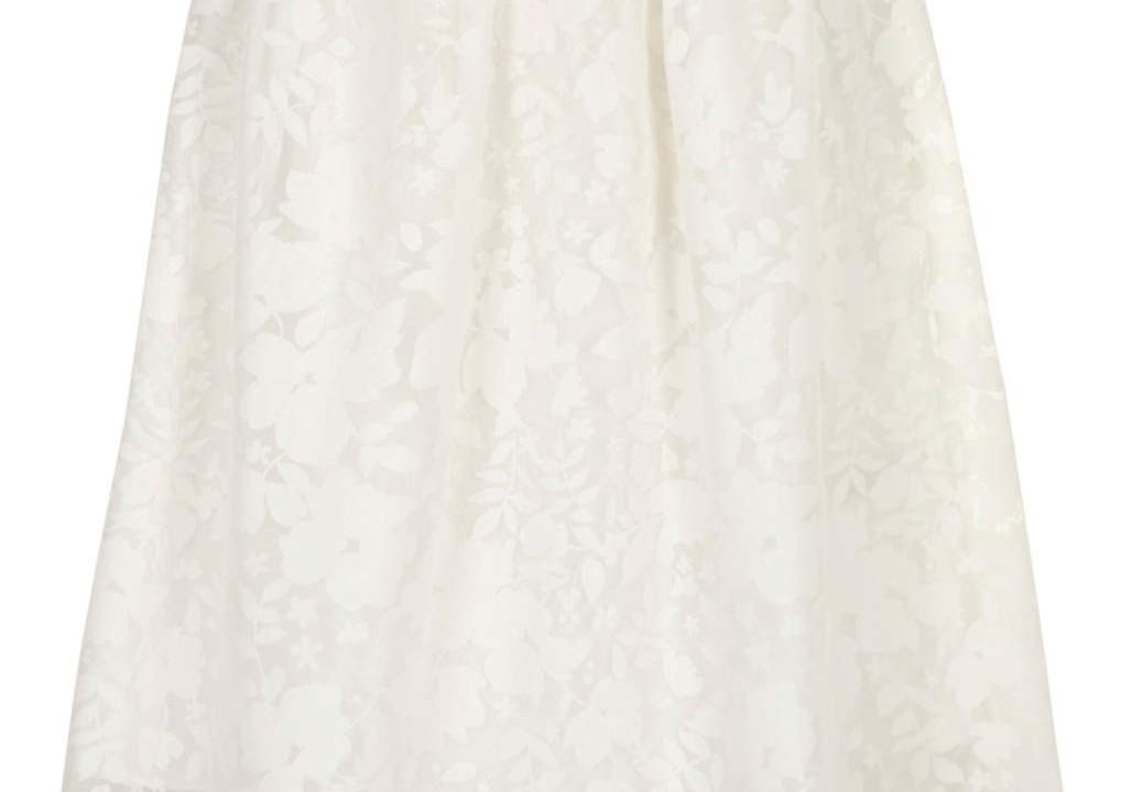 Dorothy Perkins ivory floral burnout midi skirt £22.50.