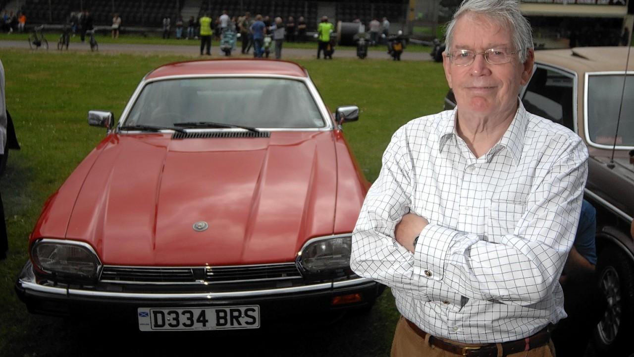 Duncan Macrae with his Jaguar 1987  XJS