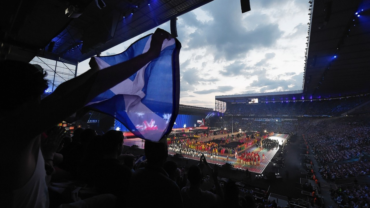 Live pictures from the Commonwealth Games opening ceremony