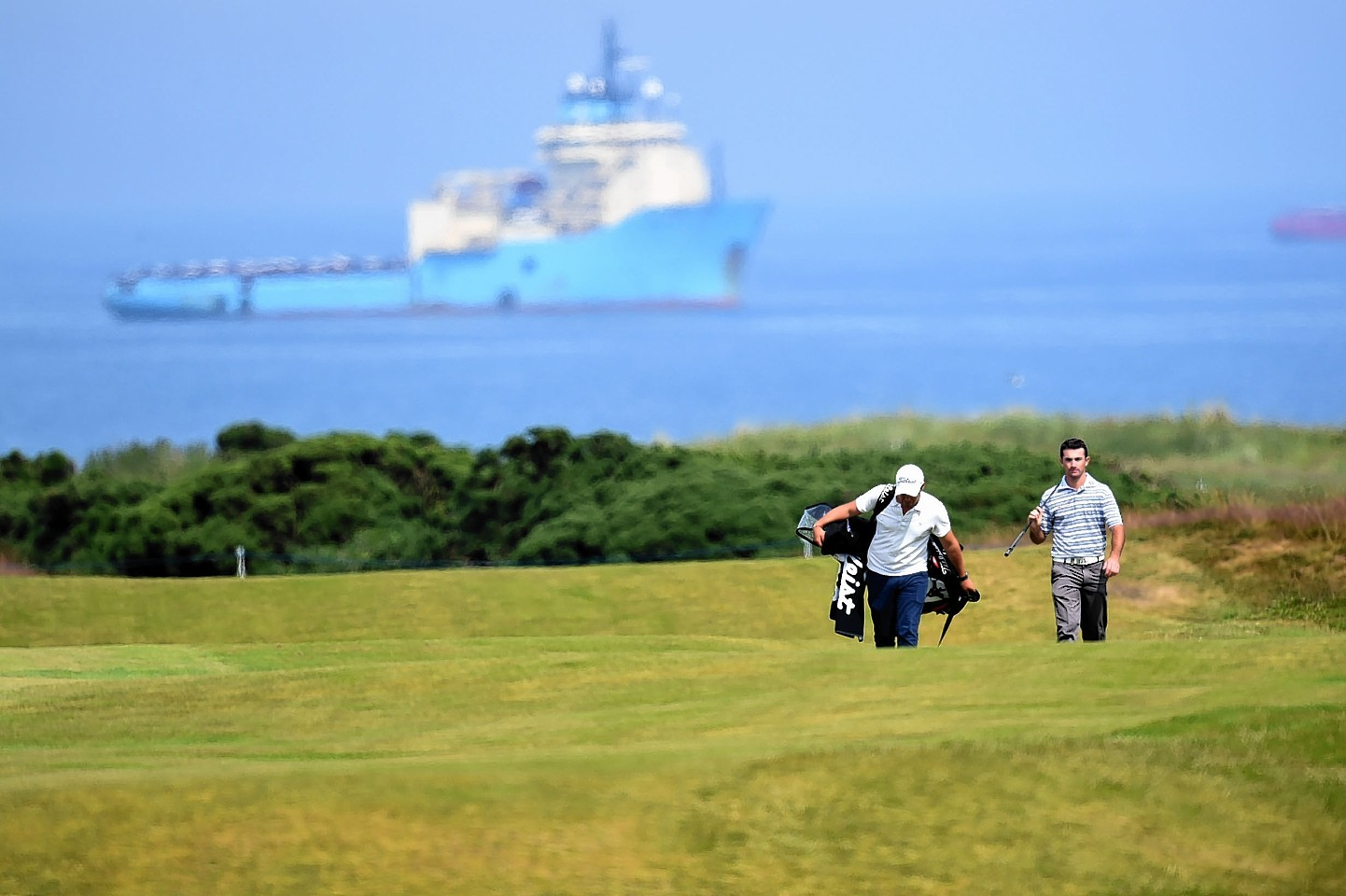 Many of the golfers arrived yesterday for the Scottish Open at Royal Aberdeen