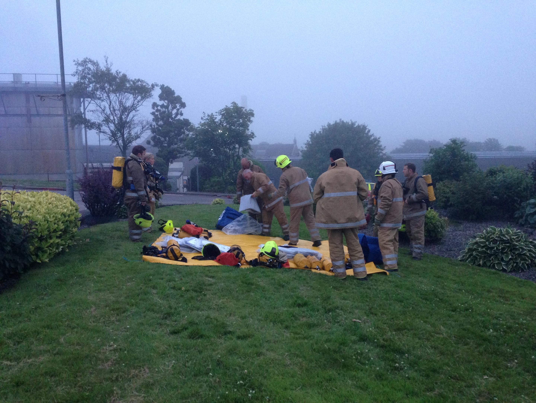 Scene of the incident in Brora
