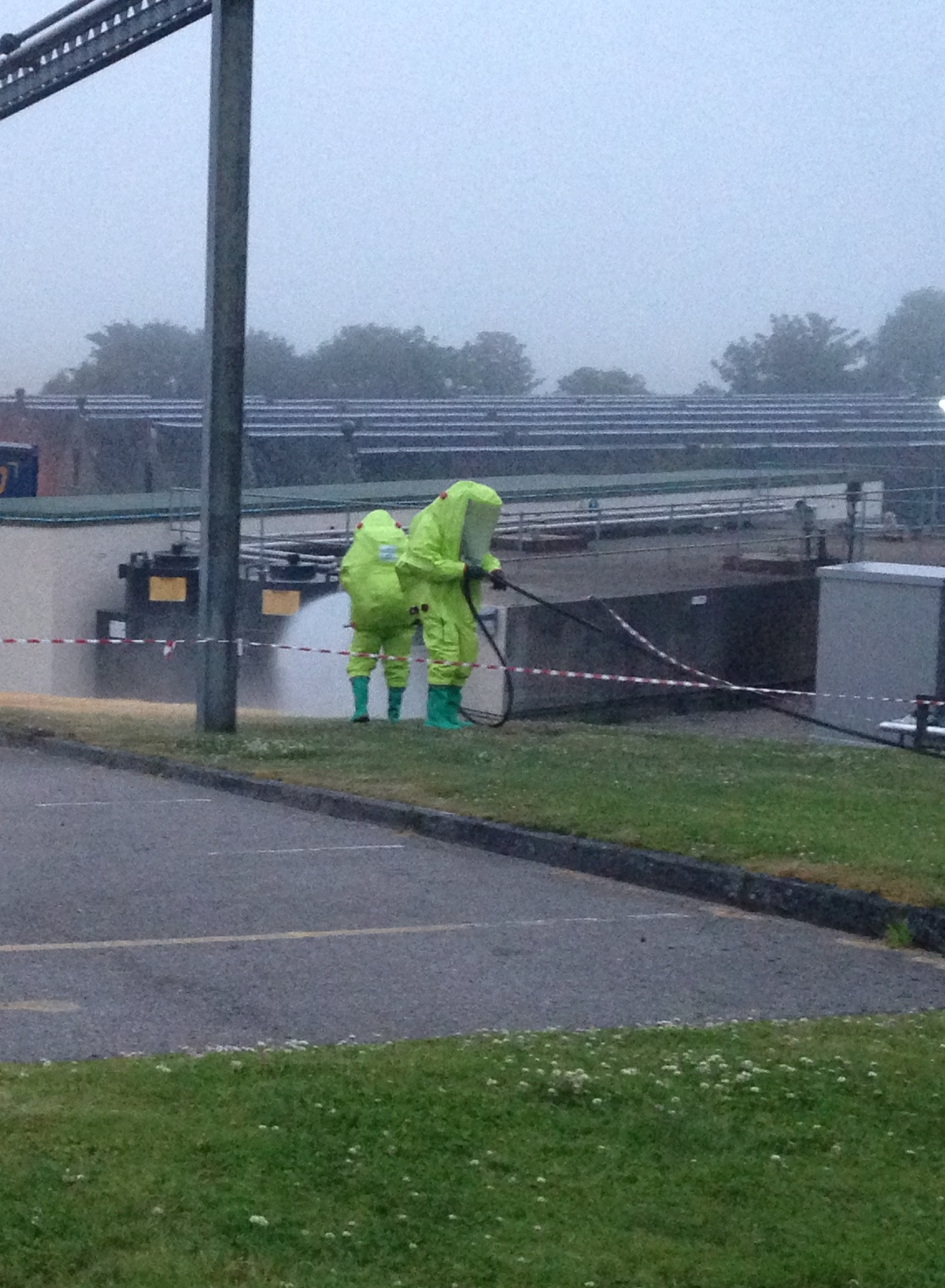 Chemical experts attend to the incident in Brora