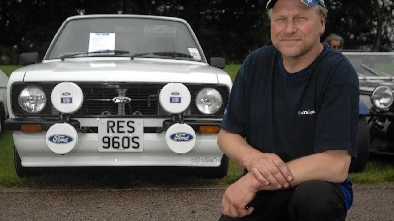 Ian Beatson with his Ford MKII RS2000