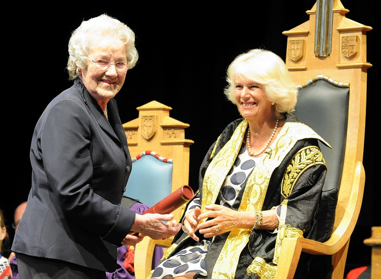 Iris Paterson receives her degree