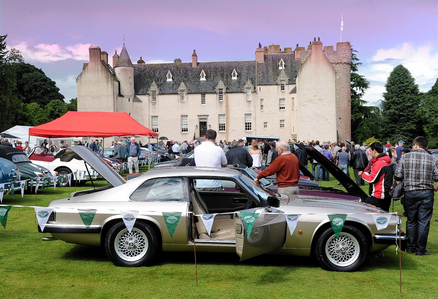 Jaguars and Daimlers on display at last year's Annual Gathering and Car Show at Drum Castle, near Banchory