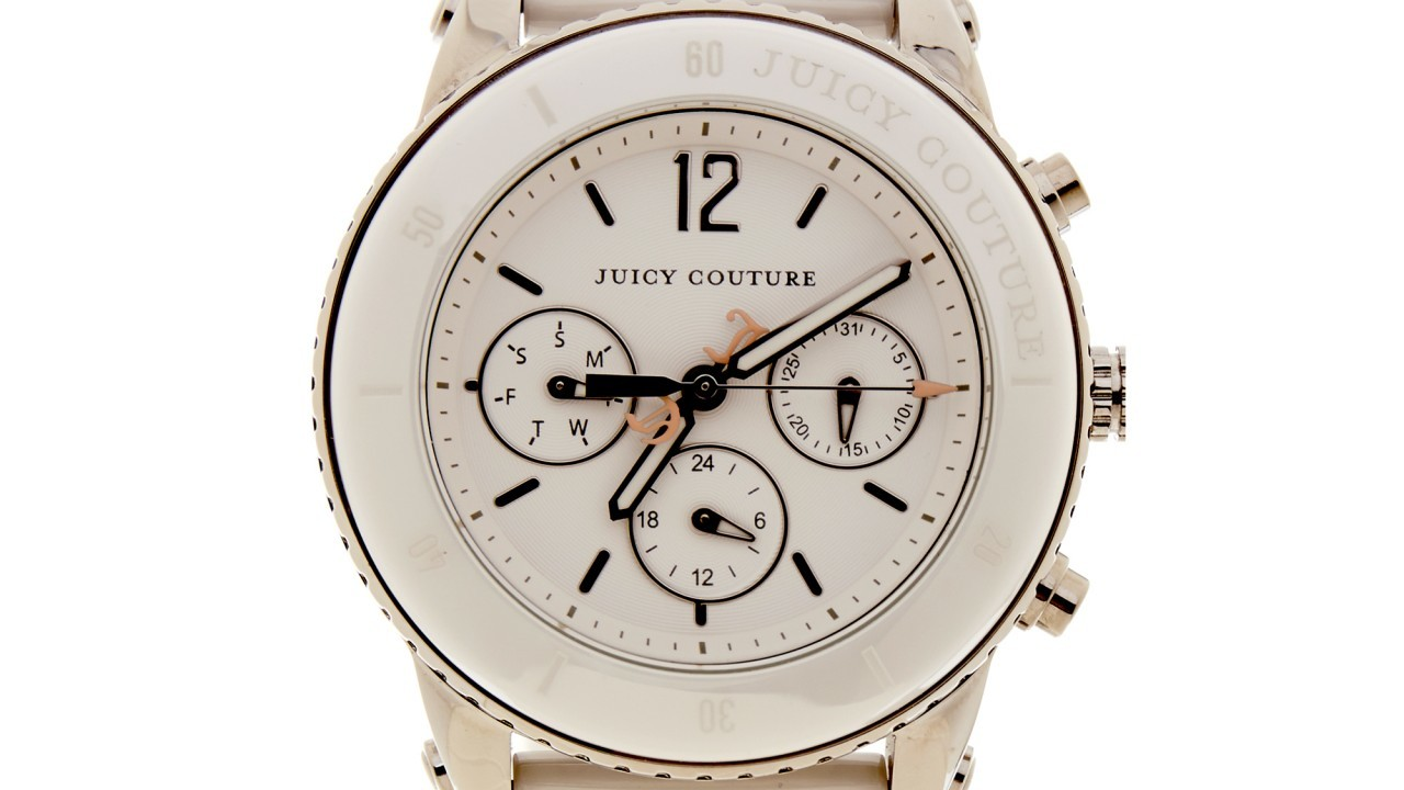Juicy Couture Pedigree ceramic white bracelet watch £175 at Brand Outlet