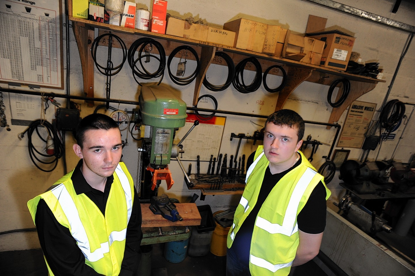 Liam Shand and Callum Watt are the first to take part in a new work skills scheme