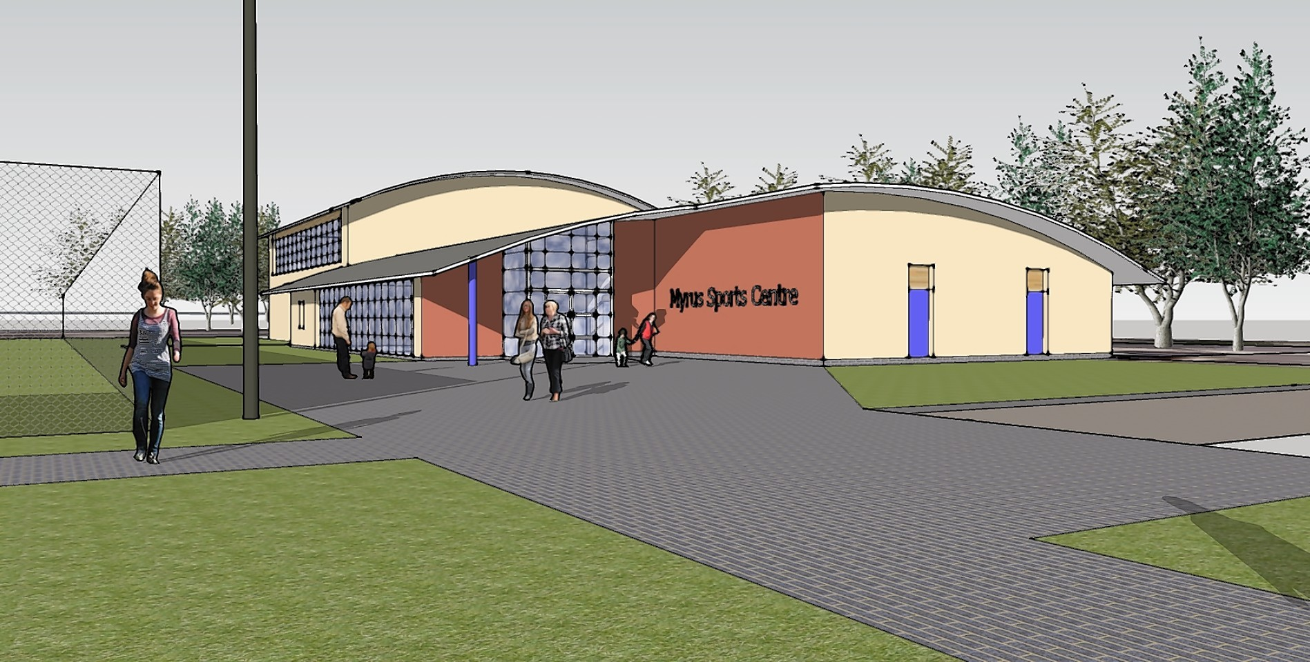 Artist impression of the Macduff centre