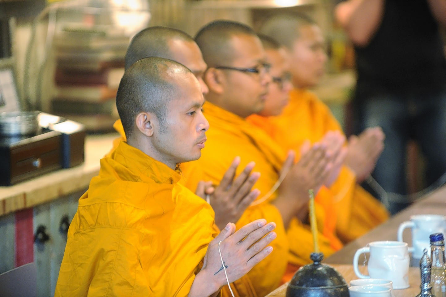 Monks blessed the new restaurant in Union Square