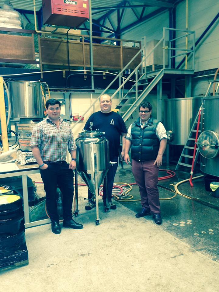 Festival organisers Mungo and Guy Finlayson at Livingston's Alechemy Brewery