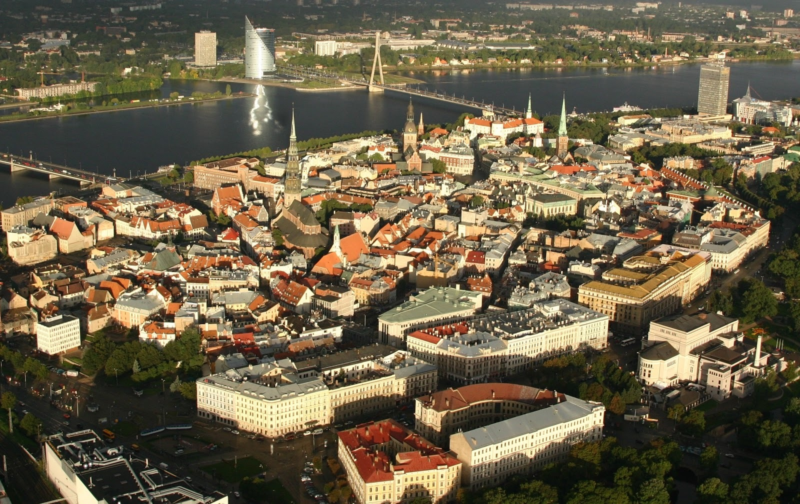 A bird's eye view of Old Riga, Latvia