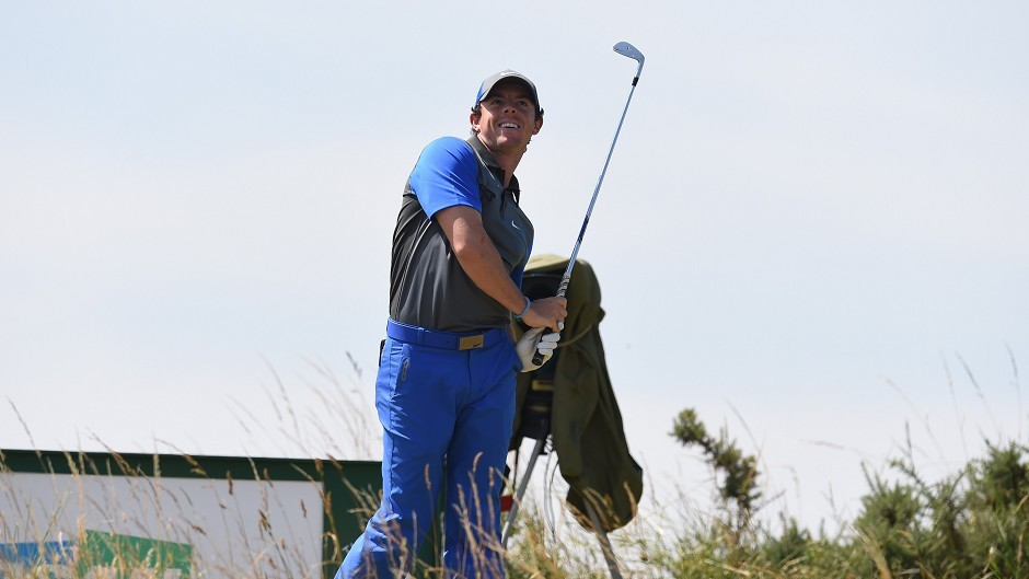 Rory McIlroy shot an opening 66 at Royal Liverpool