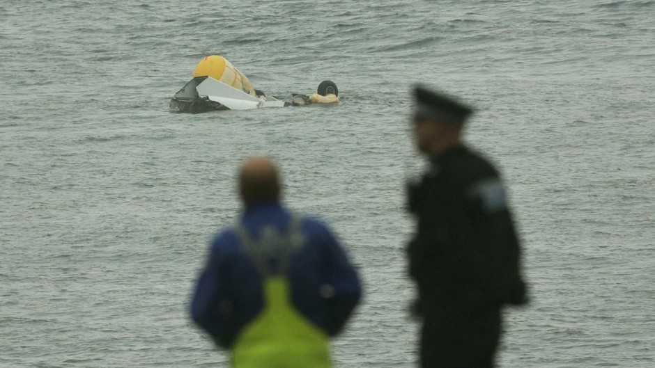 Four people died when a Super Puma helicopter crashed in the North Sea near Sumburgh