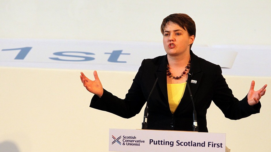 Scottish Tory leader Ruth Davidson claims SNP living in the past.