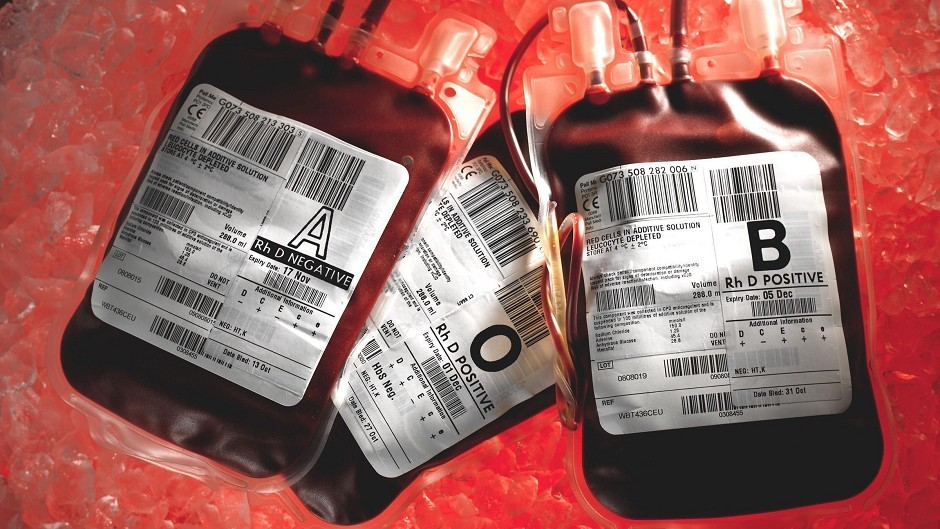 Blood donation levels dropped by around 26% across Scotland due to the recent weather
