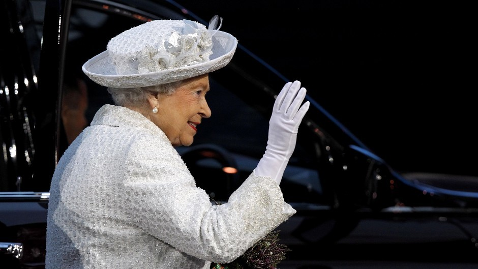 The Queen arrives during the 2014 Commonwealth Games Opening Ceremony