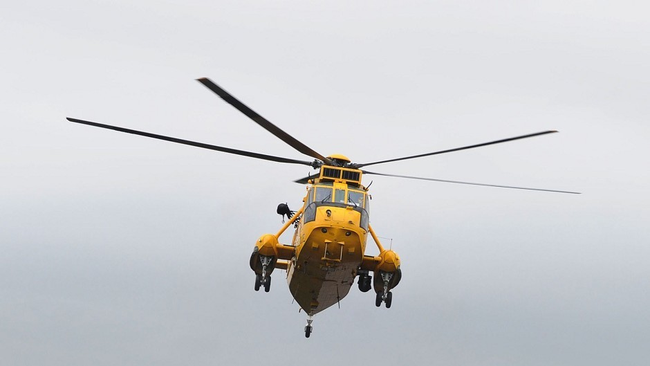 An RAF Sea King helicopter was involved in the operation