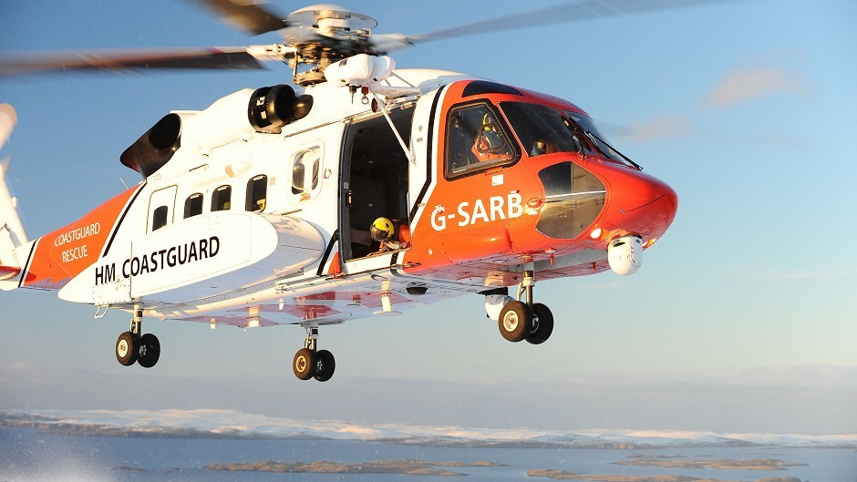 A coastguard helicopter took the fisherman to hospital