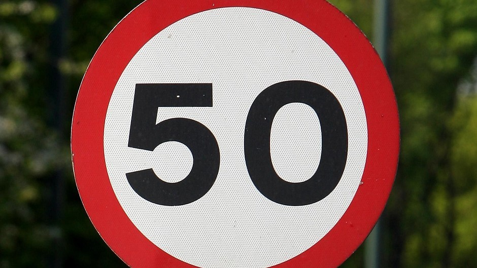 The 50mph speed limit on the A90 will be extended.