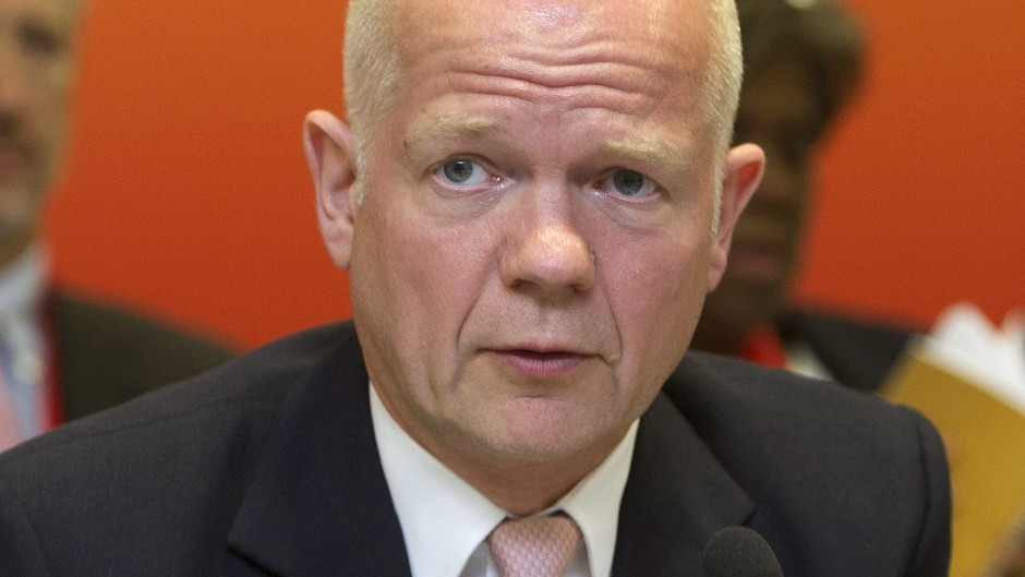 William Hague is expected to be joined by foreign ministers from the US, France and Germany in Vienna