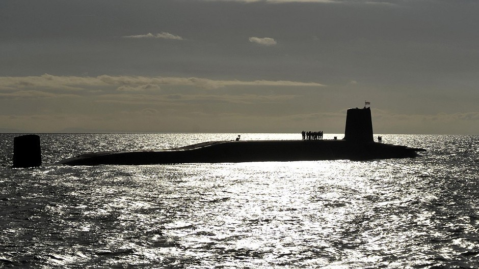 Submarines armed with nuclear weapons are based  at Faslane on the Clyde.