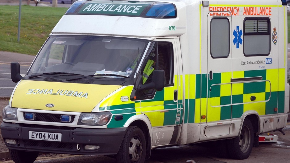 Two ambulances are on scene at the RTC