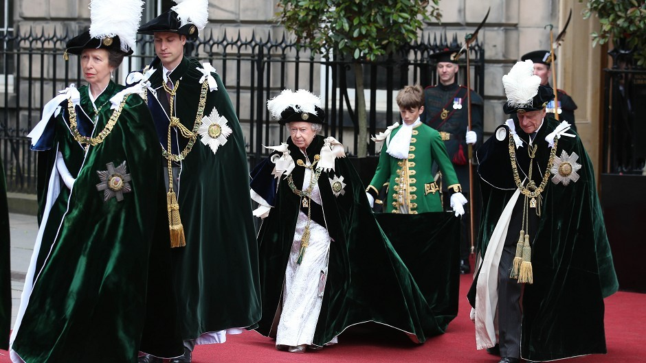 Queen Elizabeth II at St Giles' Cathedral in Edinburgh as she takes part in the Knights of the Thistle service