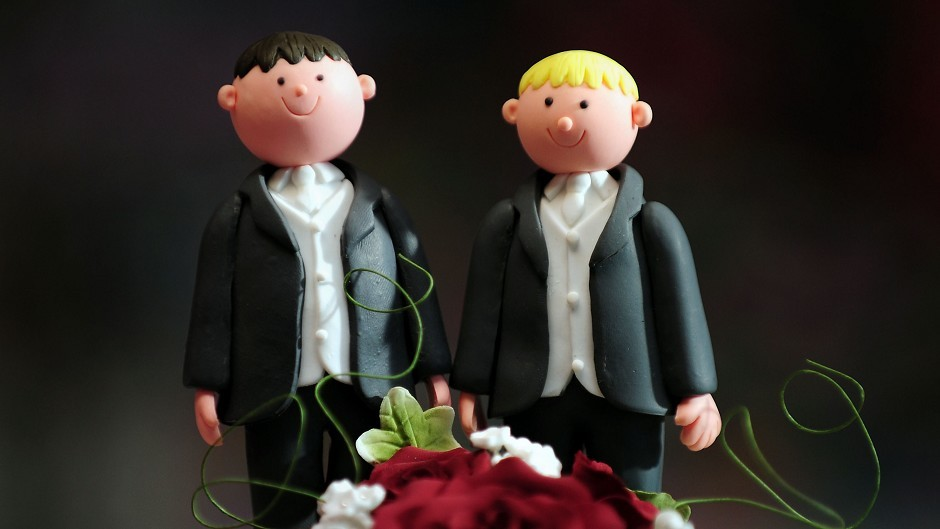 Gay marriage was legalised in Scotland in December but remains outlawed in Northern Ireland.