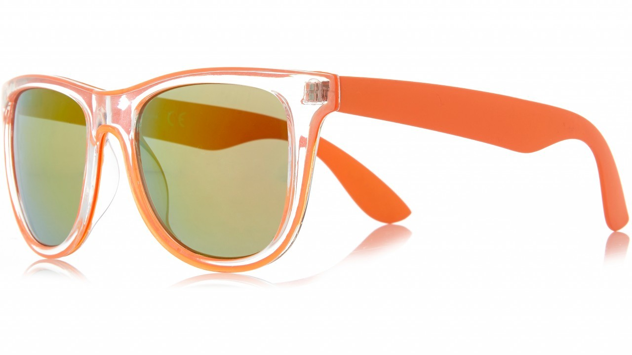 River Island bright orange retro sunglasses, £13, Bon Accord & St Nicholas