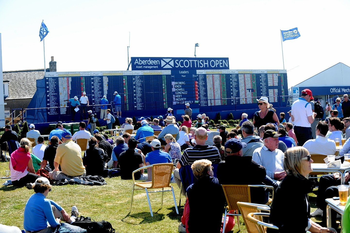 Crowds at the Scottish Open at Royal Aberdeen