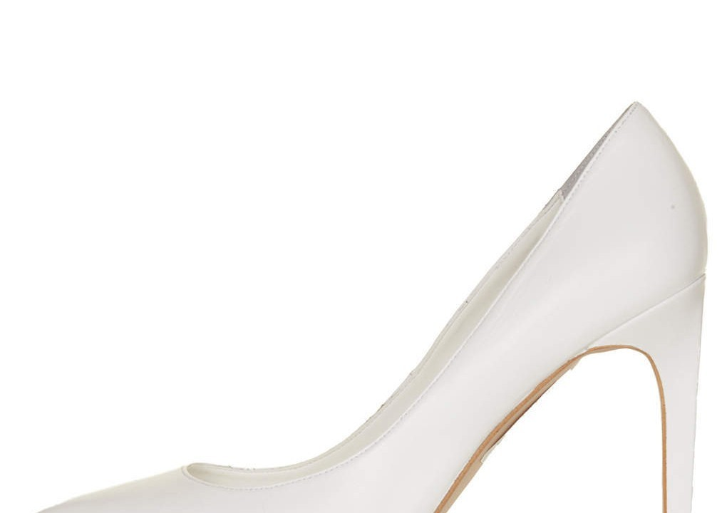 Topshop Glory white court shoes £58