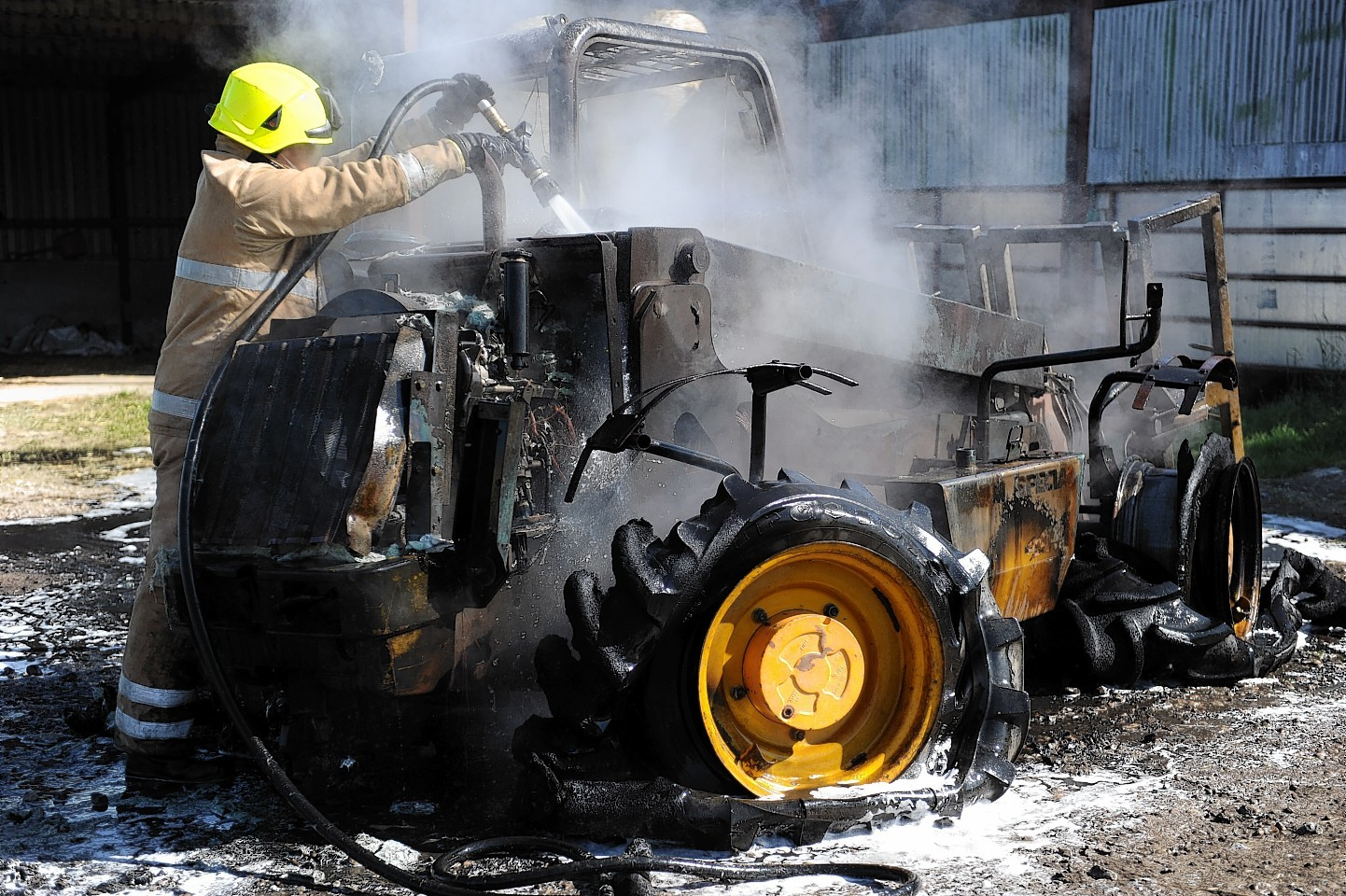 Tractor fire
